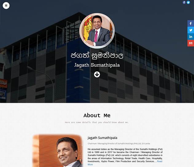 Mr. Jagath Sumathipala's Personal Website