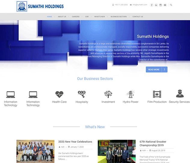 Sumathi Holdings' Corporate Website
